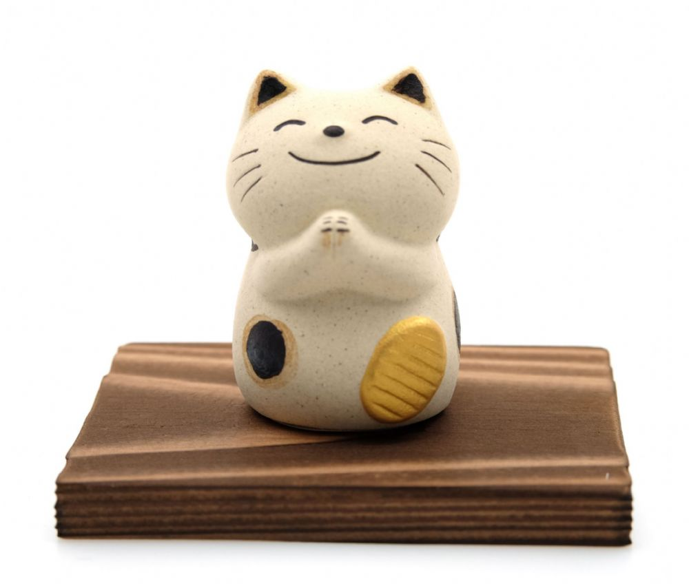 Japanese Maneki Neko Feng Shui Happy Lucky Thank You cat
